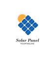 solar panel logo icon vector image vector image