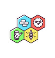 strategy game rgb color icon vector image
