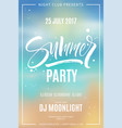 summer party flyer vector image vector image