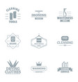 sweep logo set simple style vector image vector image