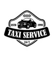 taxi service emblem template design element for vector image vector image