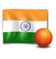 The flag of India with a ball vector image vector image