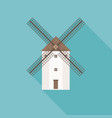 traditional spain wind mill vector image vector image