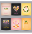 Tropical Flowers Card Set - for Wedding Birthday vector image vector image