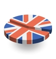 United Kingdom flag pie chart vector image vector image