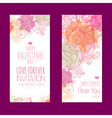 valentines day background set banners vector image vector image