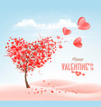 valentines day holiday background with heart vector image vector image