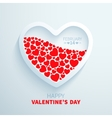 White paper heart filled with red hearts vector image vector image