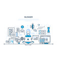 working with technologies content users vector image