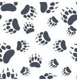 bear claw bear footprint seamless pattern vector image