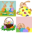Templates for easter greetings card vector image