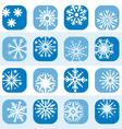 color snowflake icon set vector image