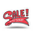 sale up to 50 percent drawn style for promotion vector image