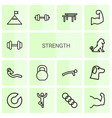 14 strength icons vector image vector image