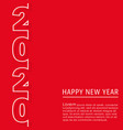 2020 happy new year background design for vector image vector image