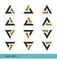 a and v letter set icon logo template design eps vector image vector image