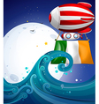 A floating balloon with the flag of Ireland vector image vector image