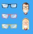a smart eyeglasses vector image