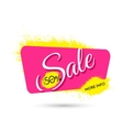Advertising banner Sale Upto 50 percent off vector image vector image