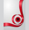 albanian flag wavy background vector image vector image