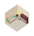 Apartment Interior in Isometric Projection vector image vector image