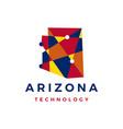 arizona technology geometric polygonal logo icon vector image