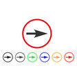 arrow axis x rounded icon vector image vector image