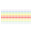arrow left shape halftone spectral effect vector image vector image