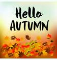 autumn typographic fall leaf