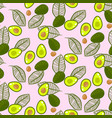 avocado green on pastel pink seamless vector image vector image