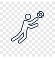 ball games concept linear icon isolated on vector image