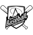 Baseball tournament professional logo vector image vector image