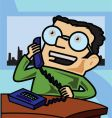business cartoon vector image