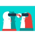 Bussiness Two heads shaking hands vector image vector image