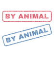 by animal textile stamps vector image vector image