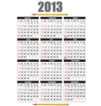 Calendar 2013 vector | Price: 1 Credit (USD $1)