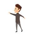 cartoon boy dancing tango on vector image