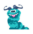 cartoon monster funny slug crazy smile vector image vector image