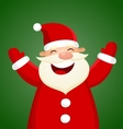 Cartoon Santa Claus on green background vector image vector image