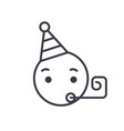 celebrating emoji concept line editable vector image vector image