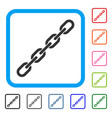 chain framed icon vector image vector image