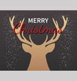 christmas deer greeting card party invitation vector image vector image