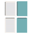 closed and opened notepad vector image