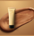 concealer cream package vector image