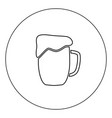 cup beer icon black color in circle isolated vector image vector image