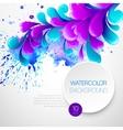 Curls watercolor background vector image vector image