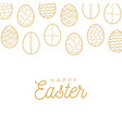 easter egg banner golden egg icons collection in vector image
