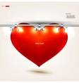 empty red heart placard vector image