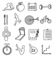 Fitness health line icons set vector image vector image