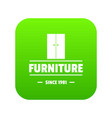 furniture cabinet icon green vector image vector image